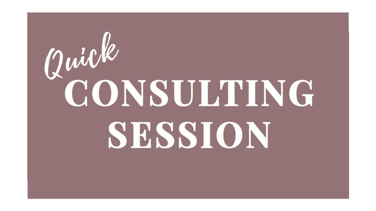 Quick Consulting Session
