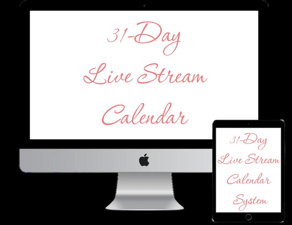 31-Day Livestream Calendar System