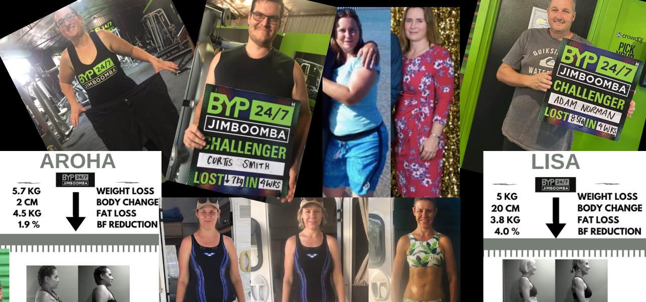 Fat loss and fitness results at BYP 24/7 gym Jimboomba