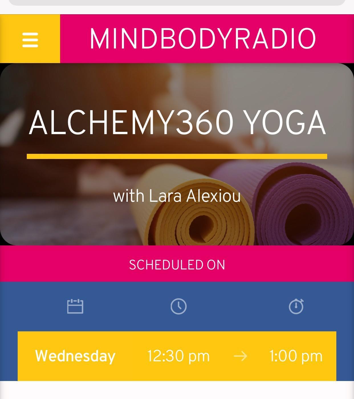 Mindbody Radio Alchemy360