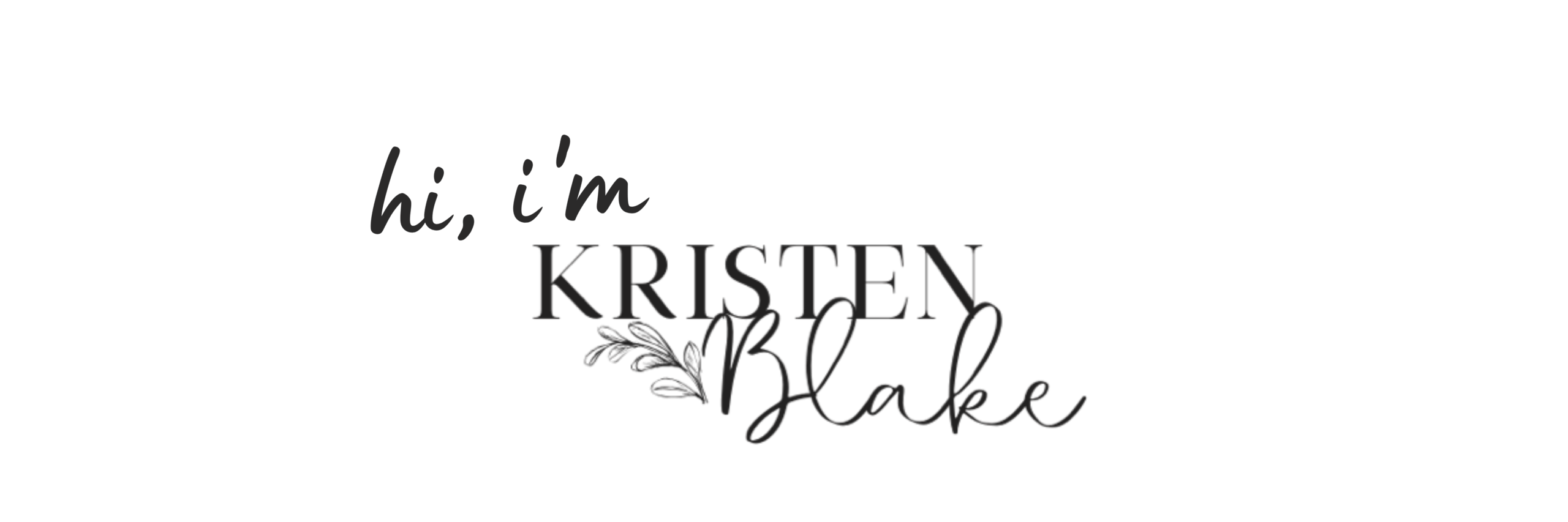 Introduction for holistic nutritionist Kristen Blake.