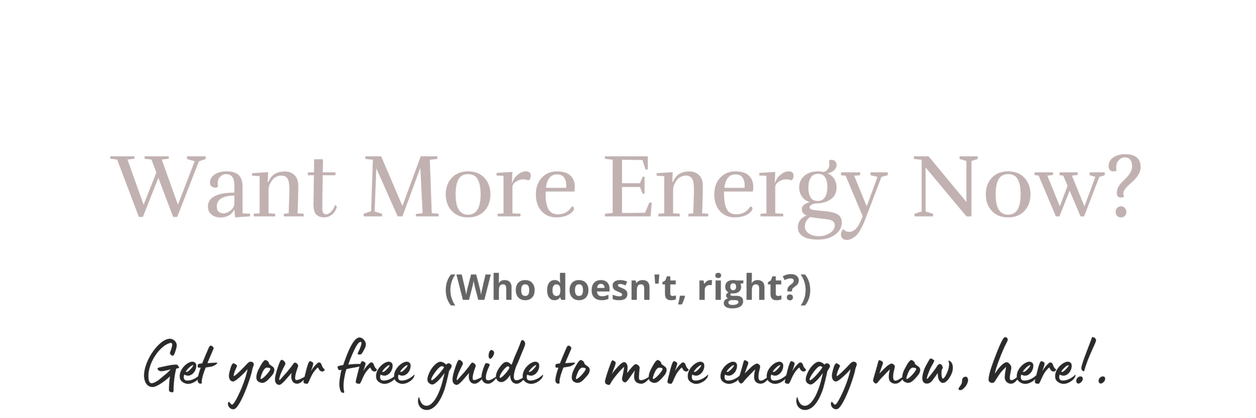 Get more energy with Kristen Blake Wellness.