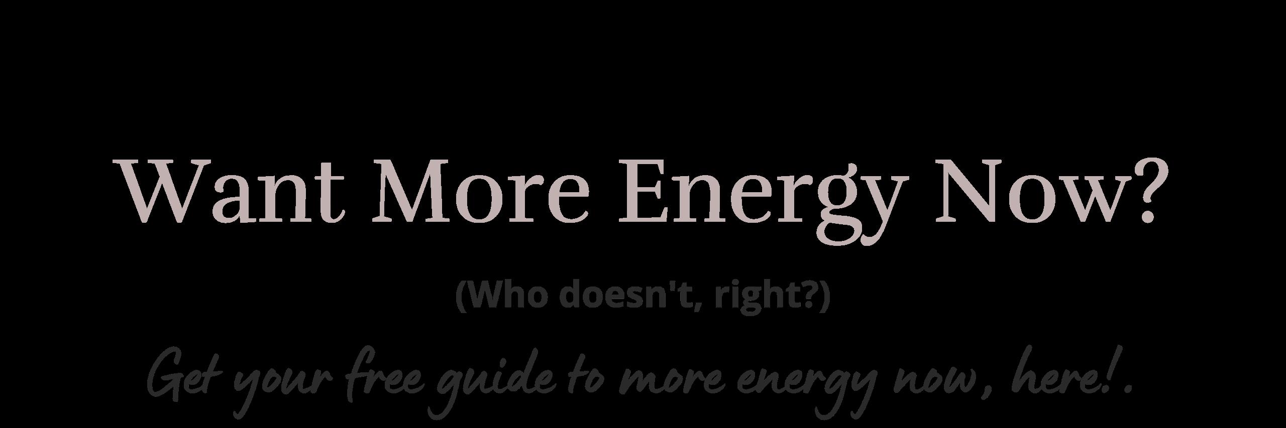 Get more energy with Kristen Blake Wellness.