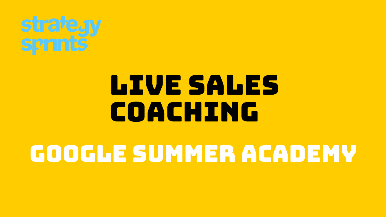 Live Sales Coaching Quotes Google Summer Academy
