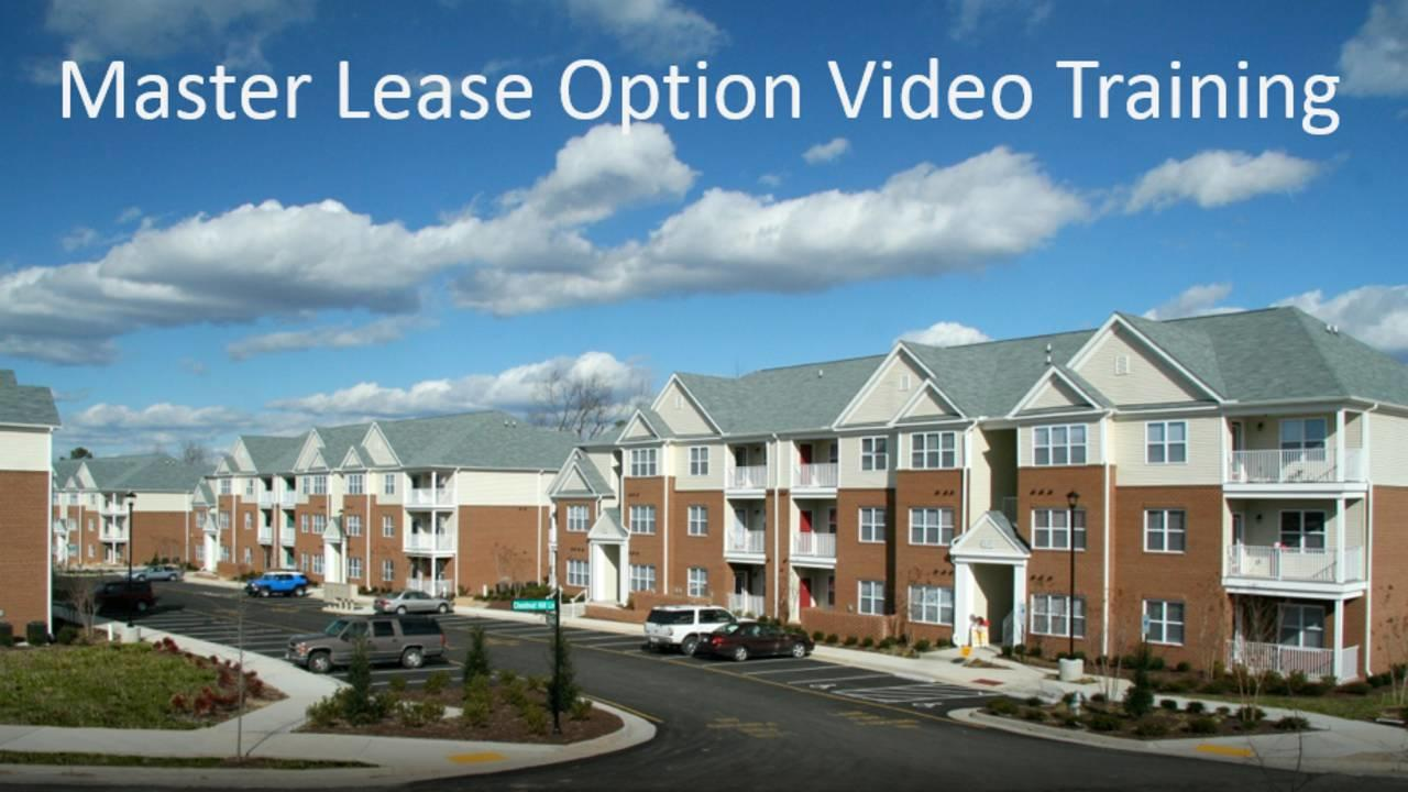 How To Control Multifamily Property With Master Lease Options