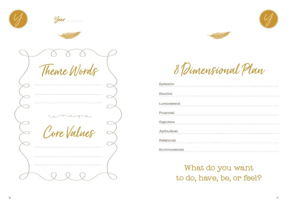 LivingUpp Lifestyle Design Planner Annual Planning Pages