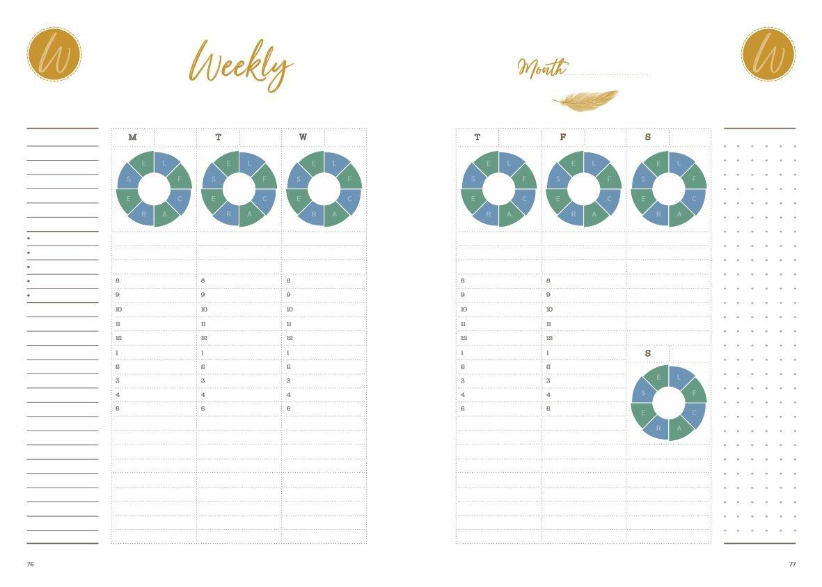 Weekly Pages in the LivingUpp Lifestyle Design Planner