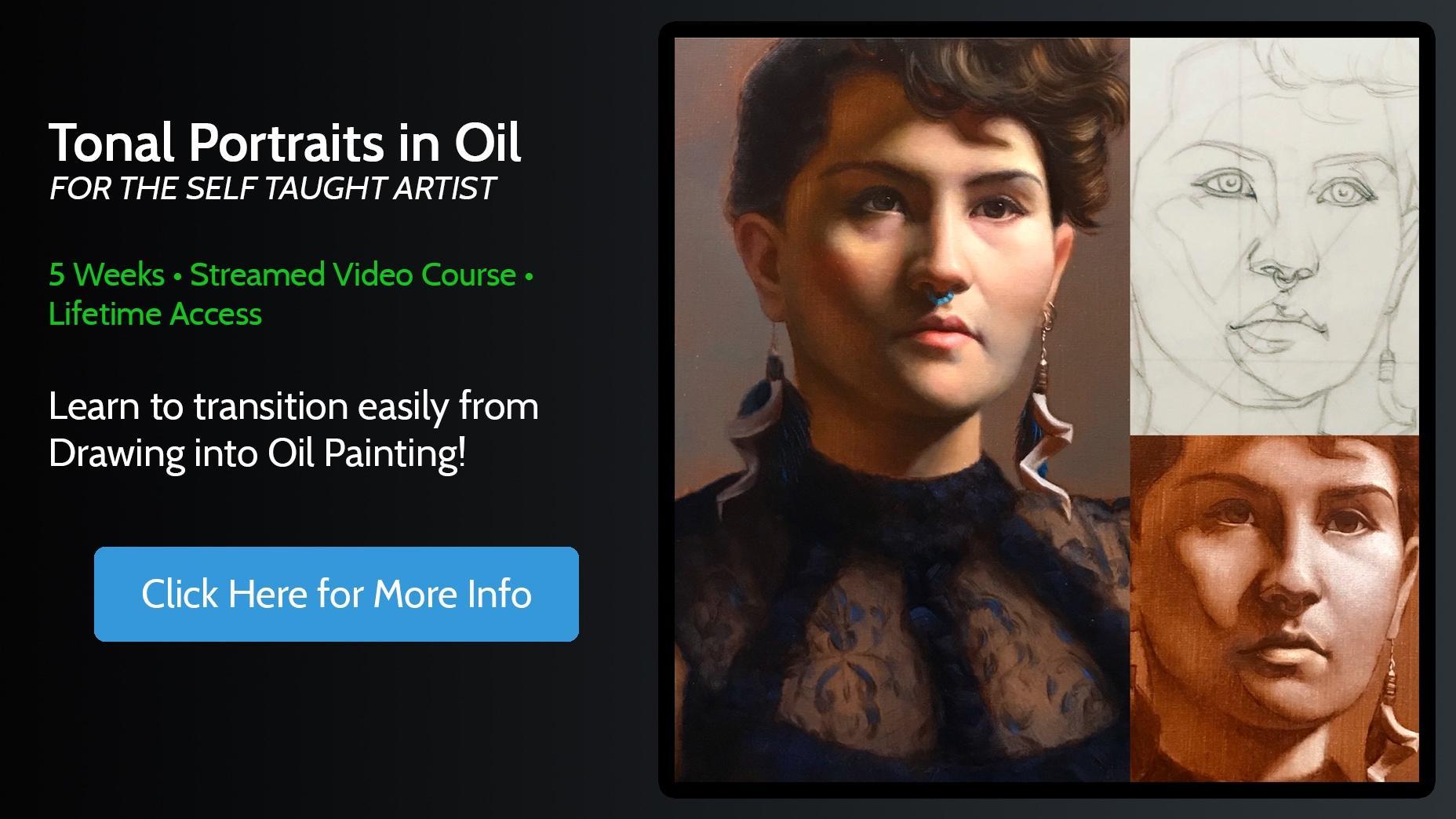 Tonal Portrait Painting in Oil Online Course
