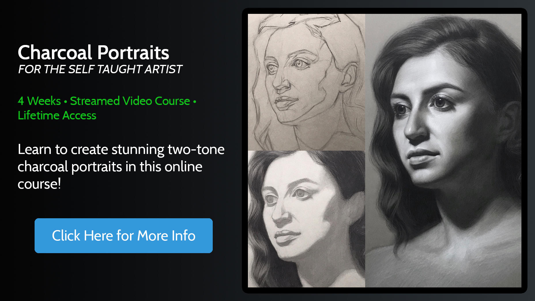 Charcoal Portraits Online Course