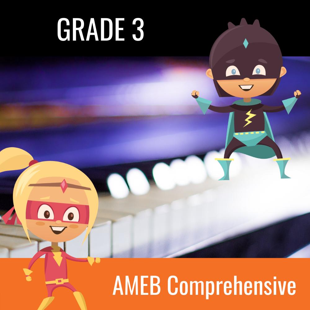 AMEB Piano Comprehensive Grade 3 Scales