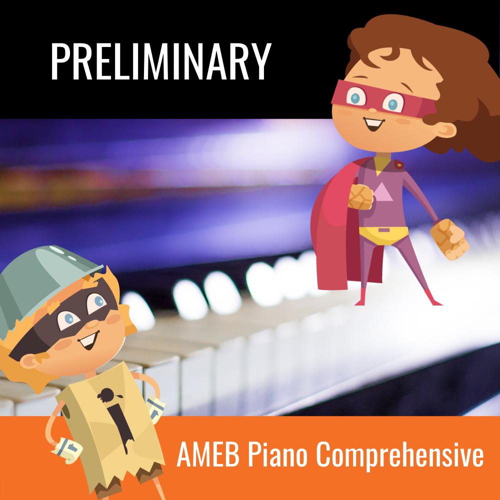 AMEB Piano Comprehensive Preliminary Scales