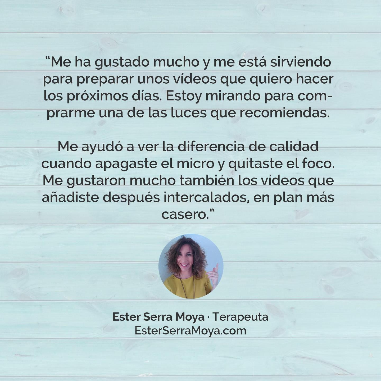 Testimonio Ester Serra