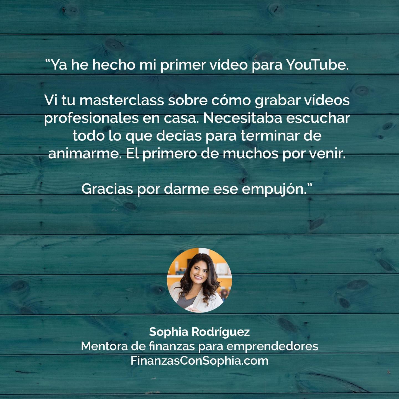Testimonio Sophia Rodríguez