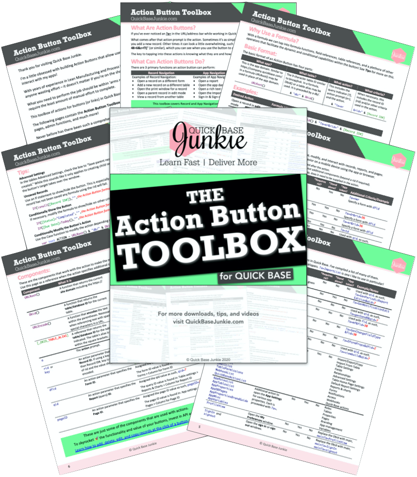 The Action Button Toolbox for Quick Base
