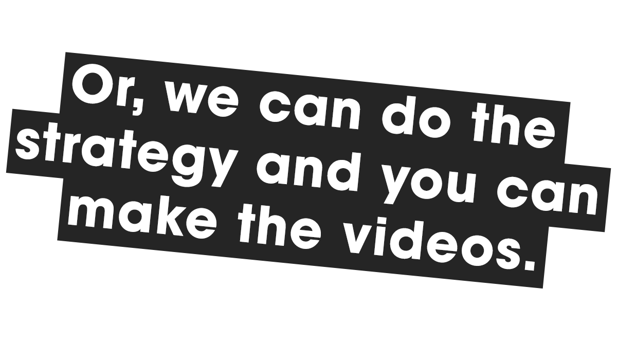 Video Content Strategy Services - Film and Content - F&C