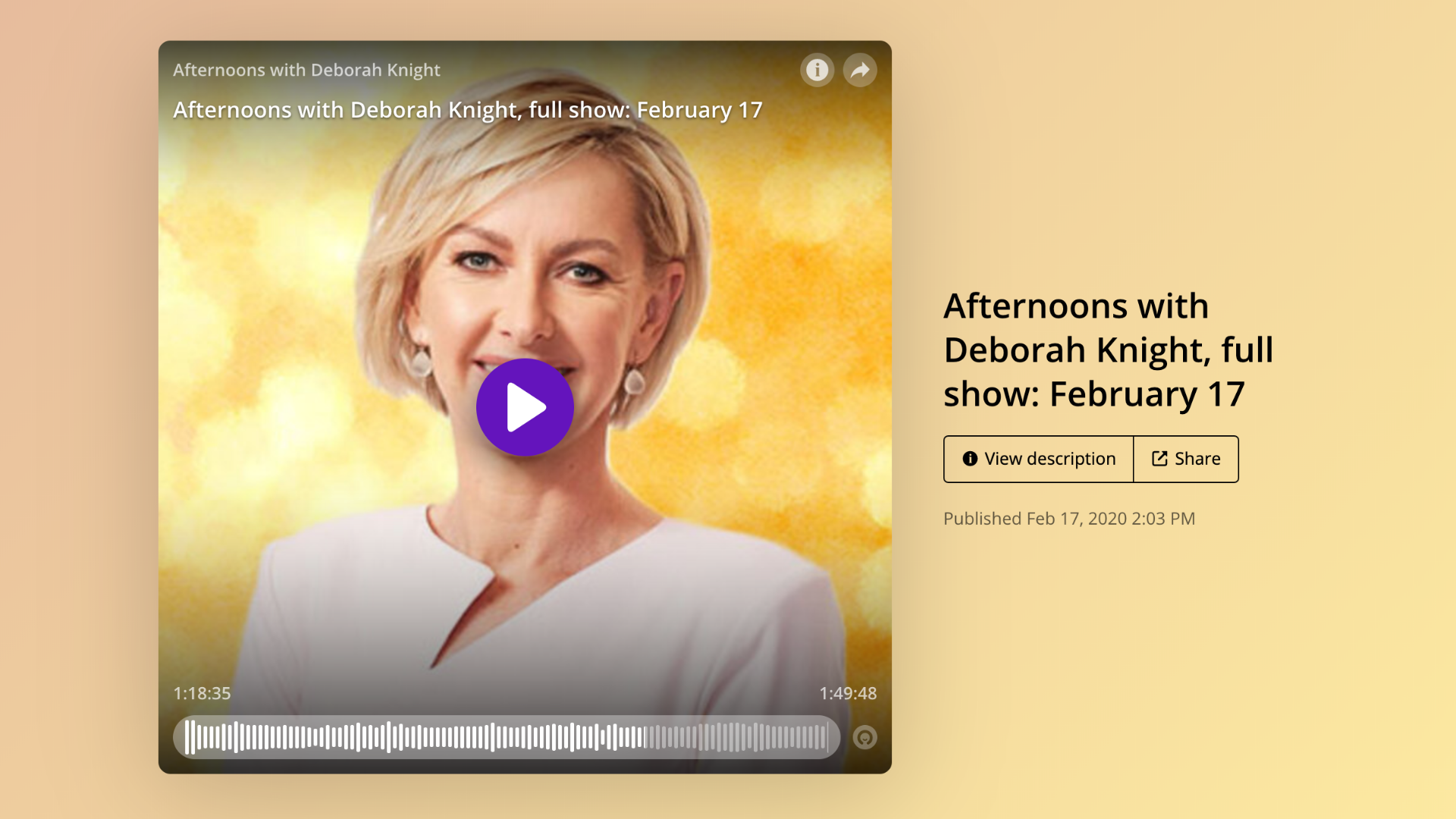 2GB & 4BC Afternoons with Deborah Knight (Interview with Melissa Spilsted - Hypnobirthing Australia™)