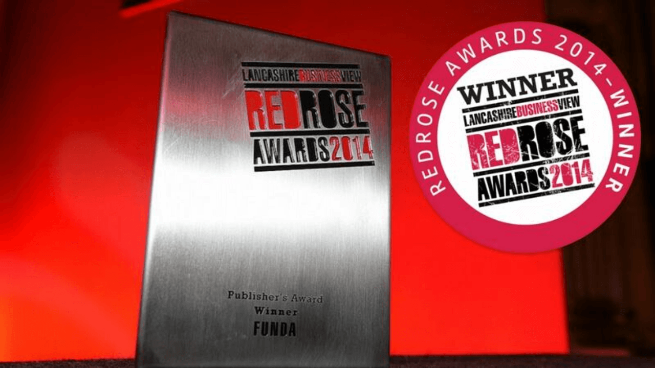 FUNDA Lancashire Business View Red Rose Awards Winner 2014