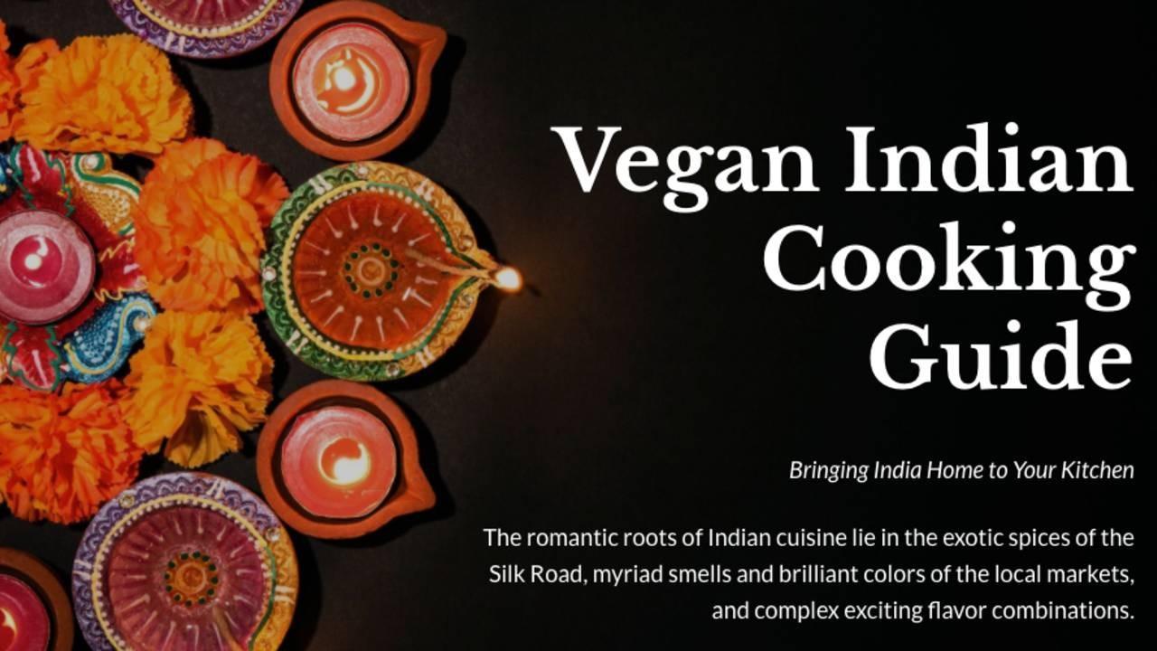Vegan Indian Cooking Guide words with Indian mandala design