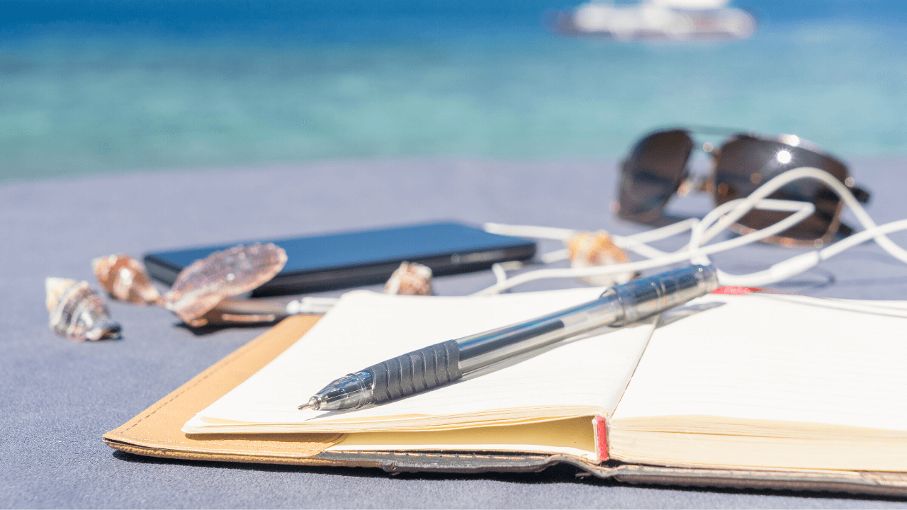Notesbog strand