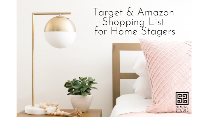 Target & Amazon Shopping List for Home Stagers