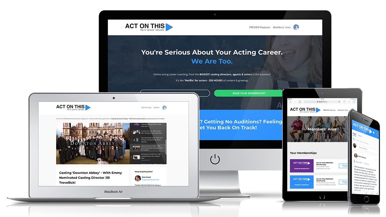 Act On This website on various devices