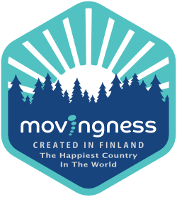 Picture showing Movingness, created in Finland, the happiest country in the world