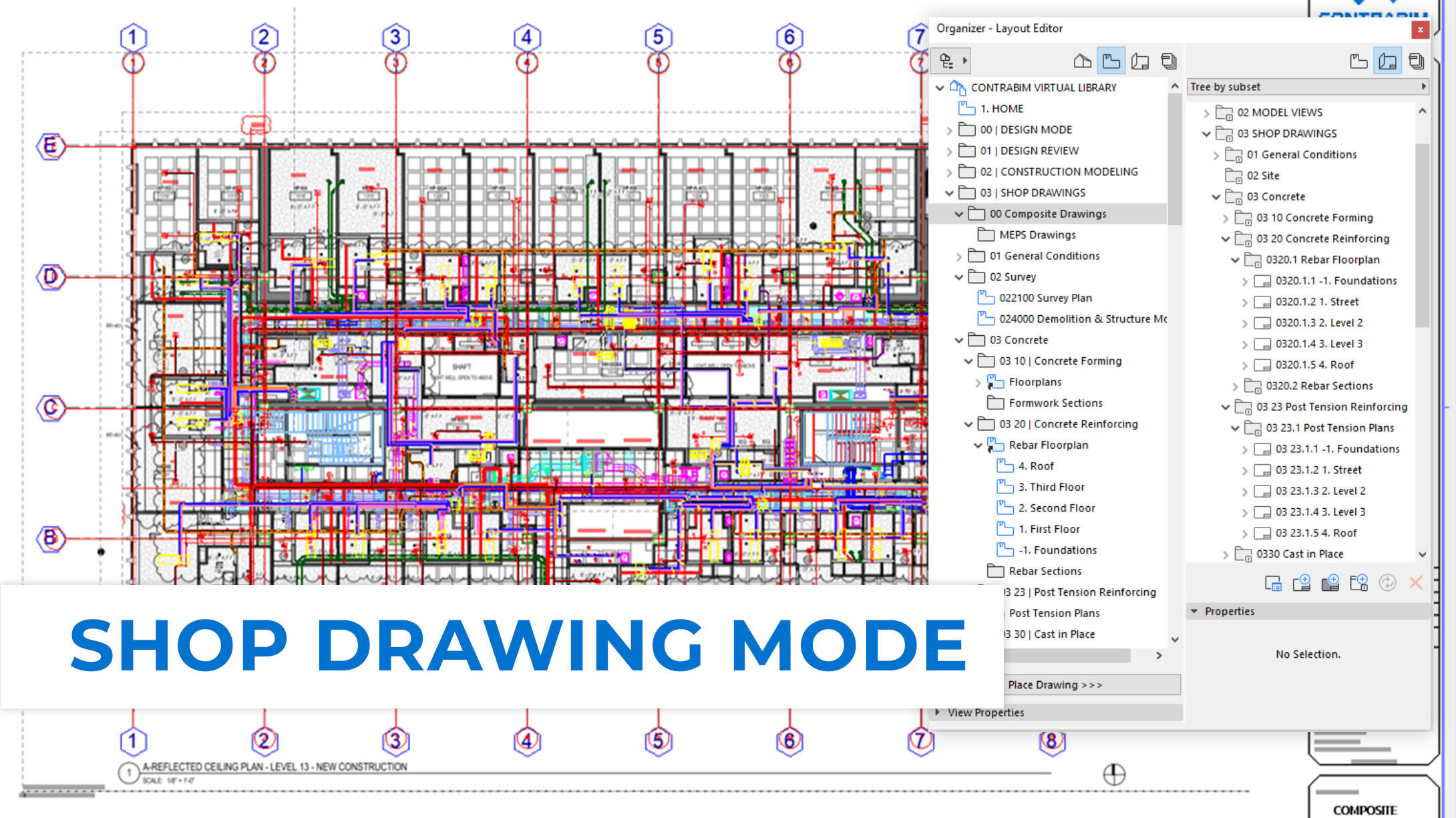 CONTRABIM Shop Drawing Mode