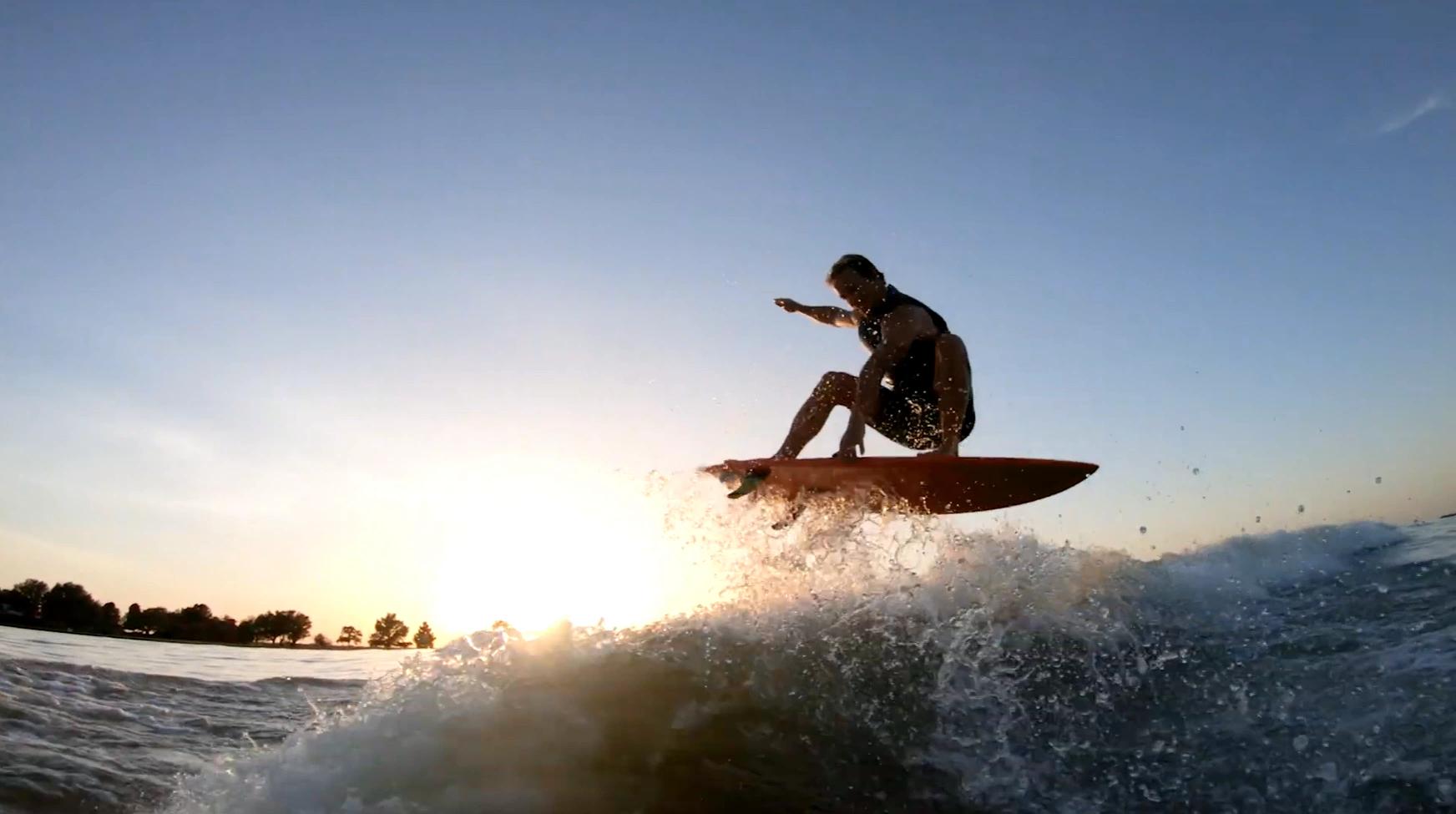 surf technique training air backlit