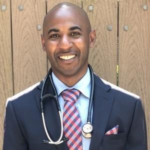 Dr Jason Spears with stethoscope