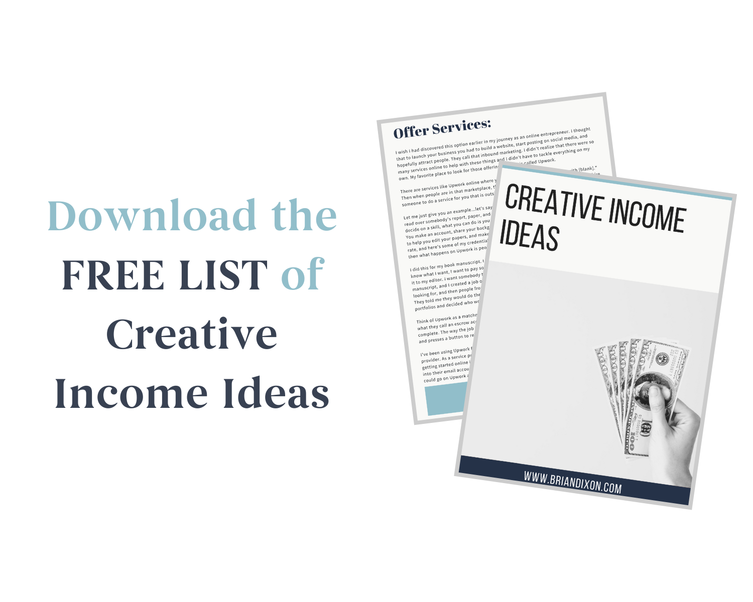Download The Free List Of Creative Income Ideas