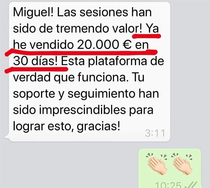 Testimonio Whatsapp 1