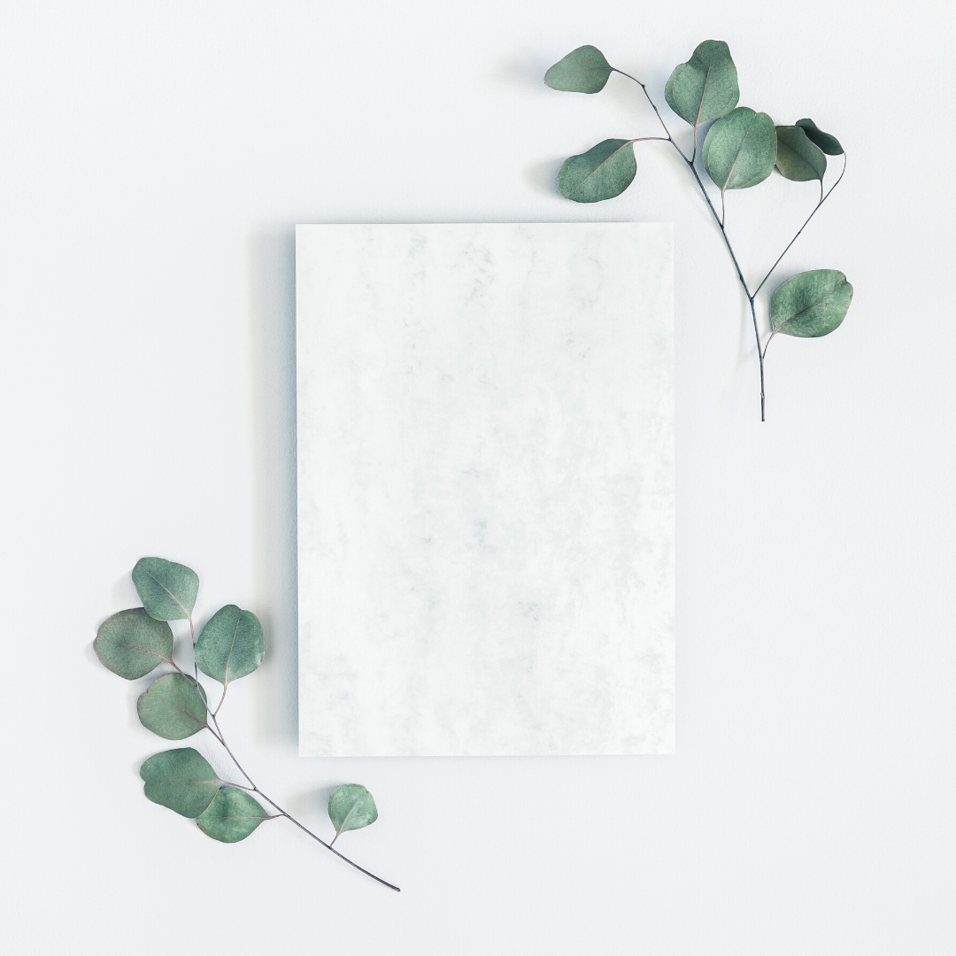 Marble Tablet and Greenery