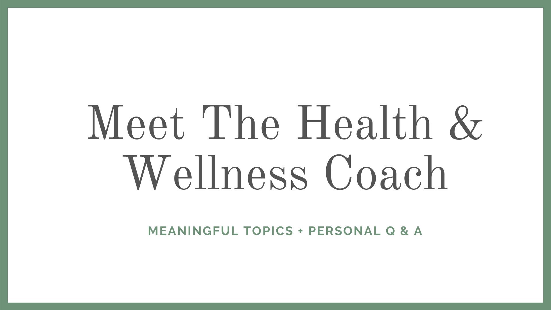 Meet the Coach Thumbnail