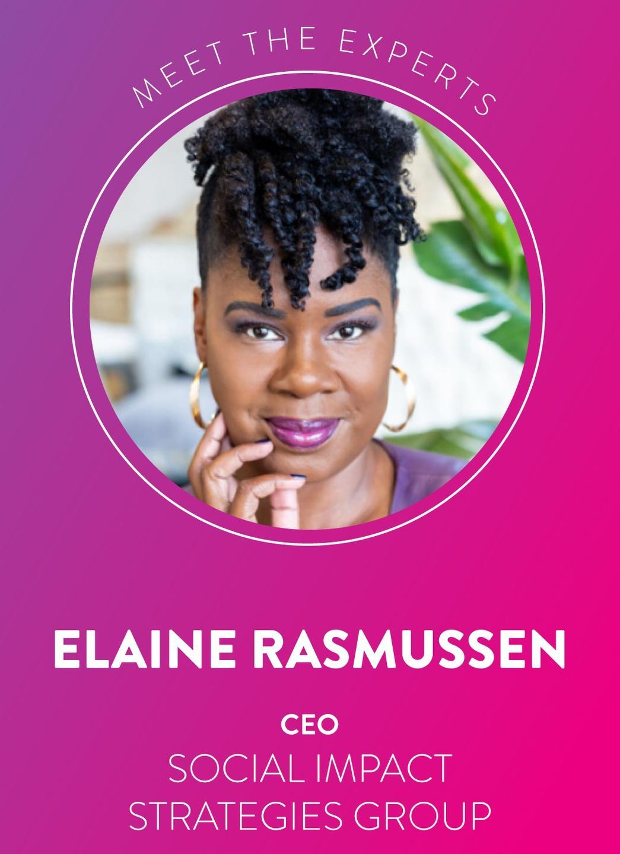 Y. Elaine Rasmussen CEO Social Impact Strategies Group