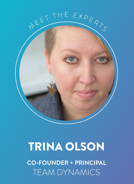 Trina Olsen cofounder and principal Team Dynamics LLC