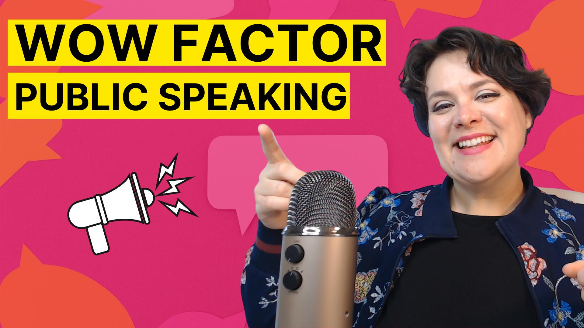 YouTube Thumbnail: Wow Factor Public Speaking
