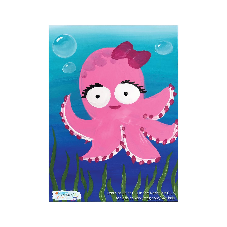 Cute Octopus Kids Painting