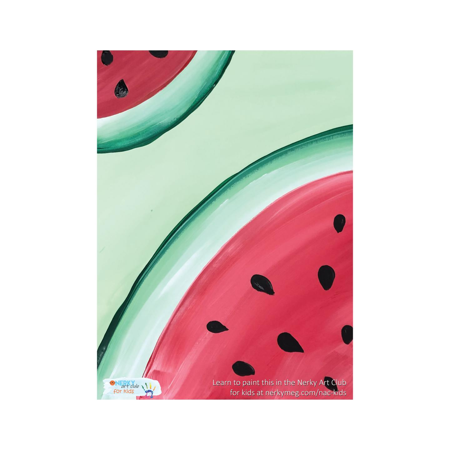 Watermelon Slices Kids Painting