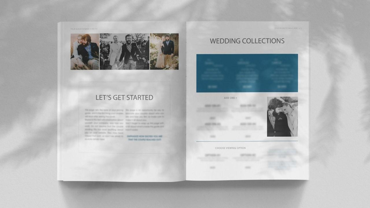 Wedding Film Pricing Template