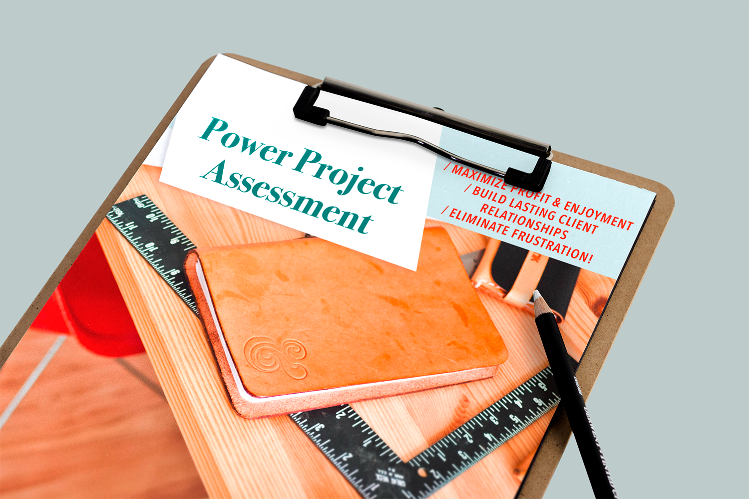 Power Project Assessment on Clipboard