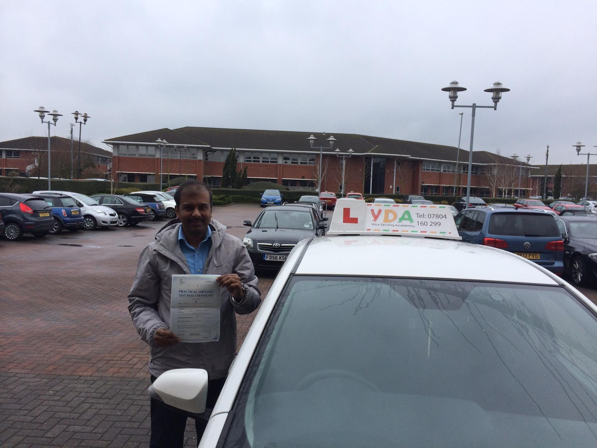 Driving Lessons Leicester - Sathees Gopalan