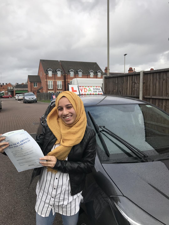 Driving Schools Leicester - Maleeha Rangara