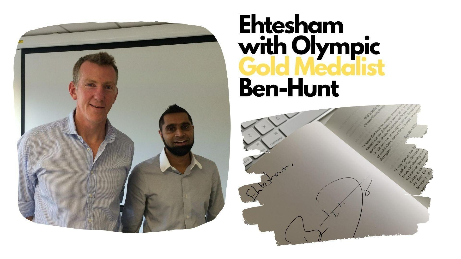 Ehtesham with Olympic Gold Medalist