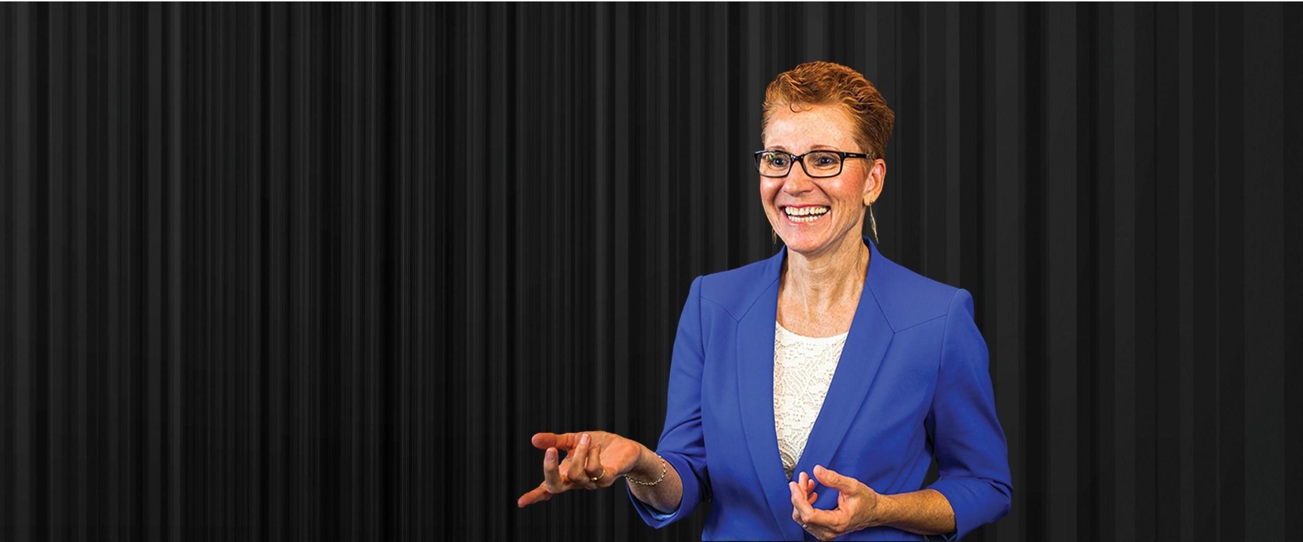 Dr Jo professional speaker speaking