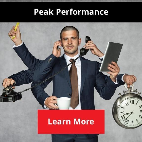 productive person working at peak performance