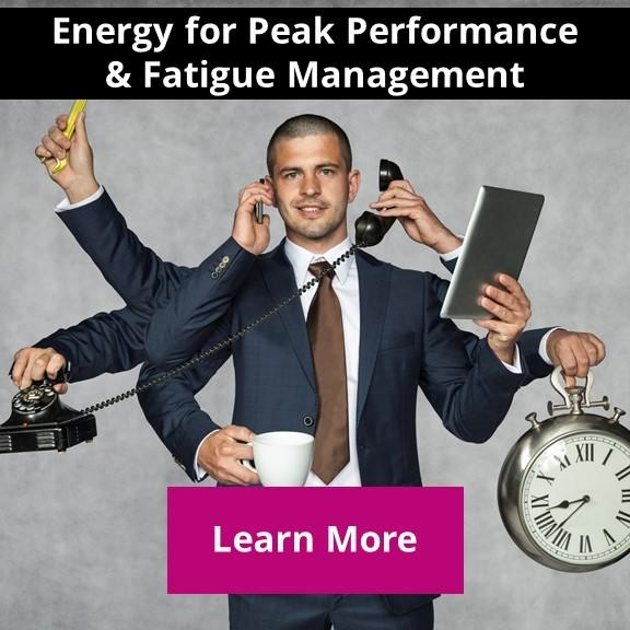 productive person working at peak performance instead of fatigue