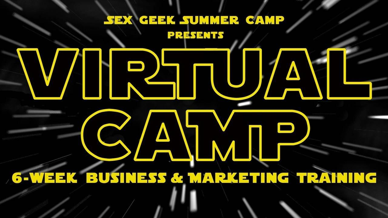 Virtual Camp's logo in the style of the STAR WARS movie logo