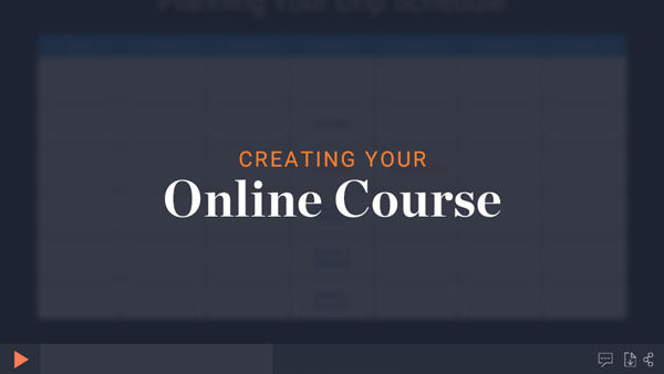 Creating an online course module thumbnail