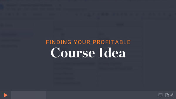 Finding a profitable online course idea module thumbnail