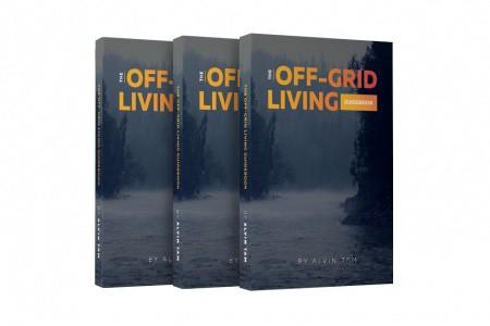 stack of Off-Grid Living Guidebooks by Alvin Tam